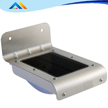Small Solar Wall Mounted Security LED Light With PIR Sensor For Outdoor Use