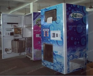 900 pounds ice maker vending machine with bagging device and seal device