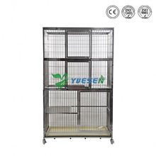 Cheapest price animal use large animal cage /dog cage with wheels/ dog cage aluminium