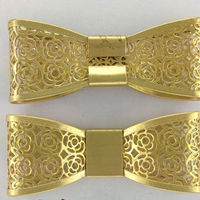 Metal Hollow Bow Shoe Clip Gold