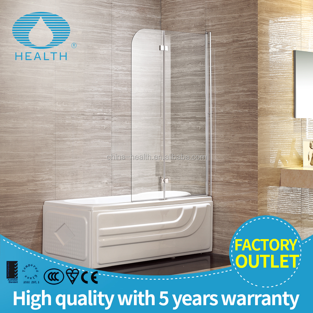 folding acrylic glass bathtub shower screen door JP104