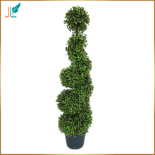 China Supplier Artificial Boxwood Spiral Tree for Indoor Decoration