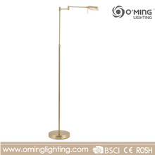 Retro brass swing arms vintage floor lamp living room decorative standing light