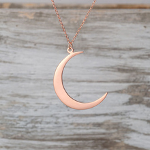 Girl dainty jewelry small size gold plated stainless steel crescent moon charm