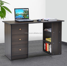 Computer Notebook Desk Bookshelf with 3 Drawer Cabinet Home Office Study Table