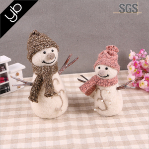 Hot selling Handmadesnowman ornament chistmas craft gift for home decoration