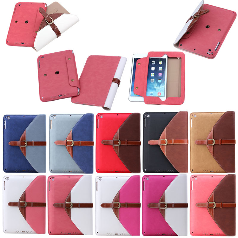 luxury leather detachable case for ipad mini 1 2 3, hybrid leather case for ipad mini 1 2 3