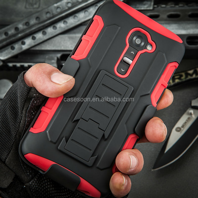 The Canton Fair G2 Case,Belt Clip Holster Rugged Hybrid Hard Cover Case For LG G2 D801 D802 ,For LG G2 Case