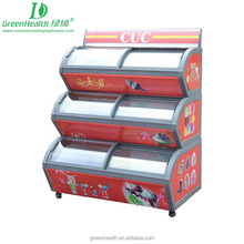 Popsicle Display Freezer with Three Cabinets Used Ice Cream Kelvinator Refrigerators Equipment for Hotel
