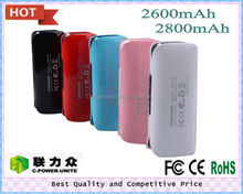 2600mah legoo power bank in promotion,the lipstick charger design power bank