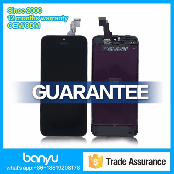 High quality replacement for iphone 5c lcd touch screen digitizer assembly