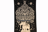 Indian Elephant Under Tree Mandala Indian Wall Decor Hanging Art Tapestries Hippie Hippy Tapestry Manufacturer In India Jaipur