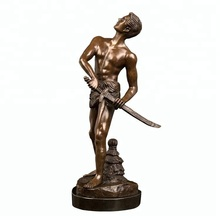 china wholesale african american copper metal art decorative human adult figurines