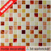 Strong sticky washable decorative craft mosaic wallpaper for kitchen and bathroom