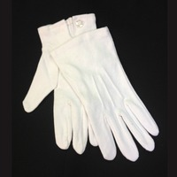 White Cotton Ceremony March Band Military Parade Gloves