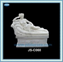 Decorative Indoor Stone Beautiful Lying Nude Woman Statue