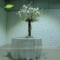 CTR1504-2 GNW tall artificial plastic flower stands wholesale for wedding table centerpiece decoration