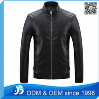 Wholesale Cheap Men PU Leather Jacket Washed Slim Fit Motorcycle Jacket