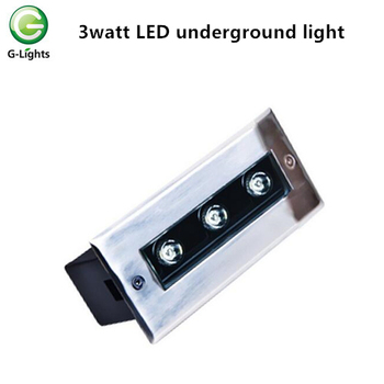 3w inground light with LED light source and IP67 for outdoor use