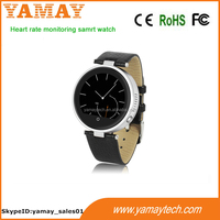round smart watch!!! heart rate monitoring thick metal dial electronics digital smart phone bluetooth watch