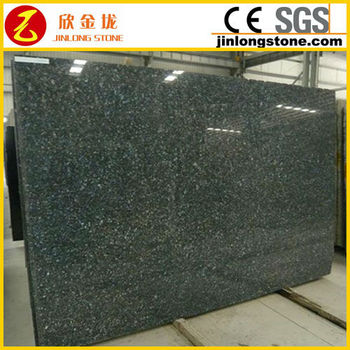 Granite polished slabs dark blue pearl low cost