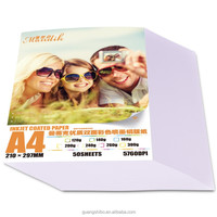 120g A4 double coated high glossy inkjet printing photo paper(GSB-DSGPP30)
