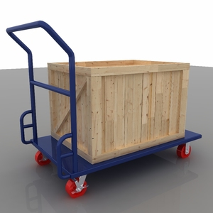 Steel foldable transport trolley 300kg platform trolley for warehouse