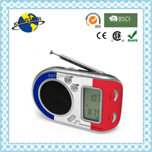 Promotional Fancy French Flag Multiband AM FM SW Personal Portable Radio