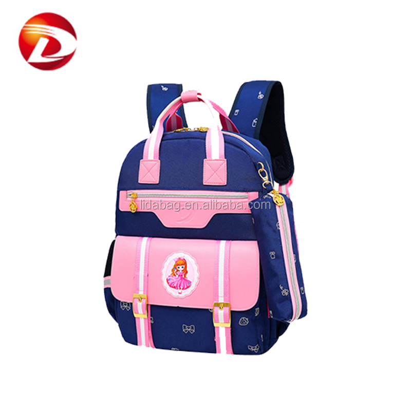 Suitable for 8 to 14 years old canvas girls school bag