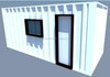 Modern Design Eco Office Shipping Container Store Steel Frame 20ft 40ft Building Home Office