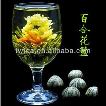 2016 new hand made blooming tea Lilies and jasmine flower