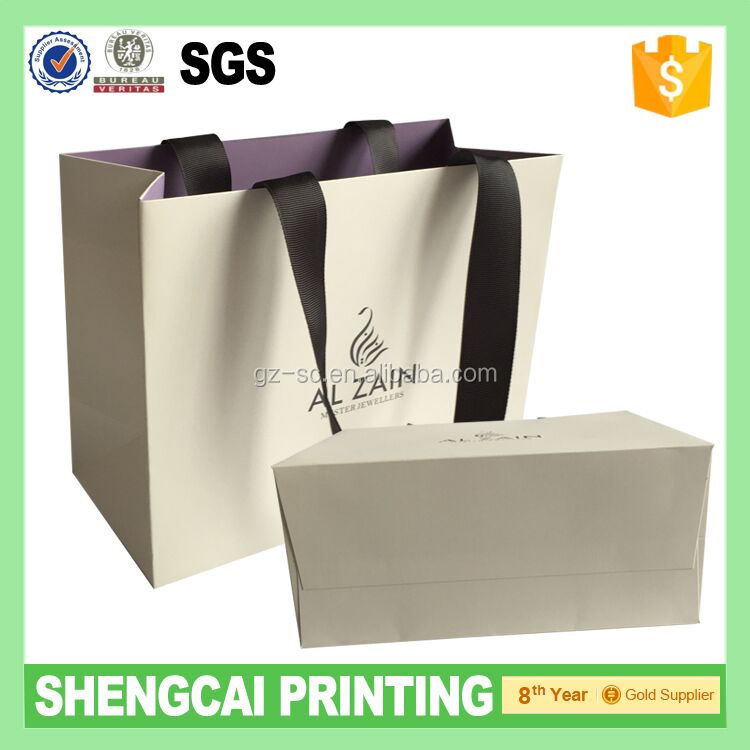 Top Quality luxyry gift paper shopping bag with OEM logo (manufacturer sale price)