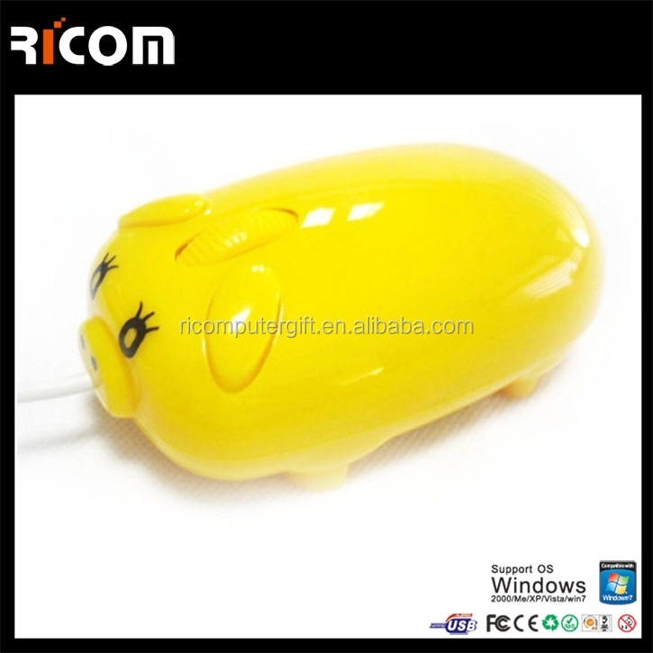 Cute Pig Shaped computer gift mouse,Wired optical computer mouse for women for laptop and desktop --MO7064---Shenzhen Ricom