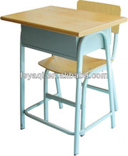 Commercial cheap price wooden middle school student desk and chair YA-066