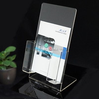 Custom made acrylic brochure magazine display stand single pocket a5 leaflet holder