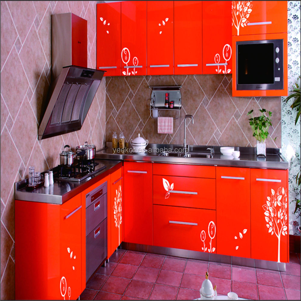 colored modular 304 stainless steel kitchen sink cabinet / customized stainless steel kitchen cabinet