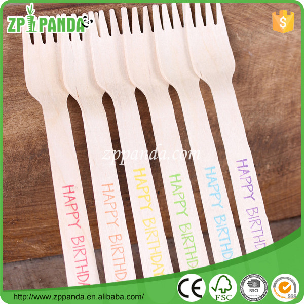MOQ3000pcs Wooden Forks/Knives/Spoon Engraved Disposable Wooden Tableware Set Wholesale