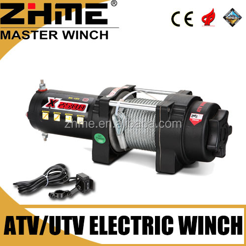 3000lbs 12v ATV capstan winch with IP 68