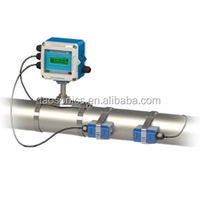 TSONIC TUF-2000F fixed mounted clamp on ultrasonic water flow meter with RS485 interface and 4-20mA analog output