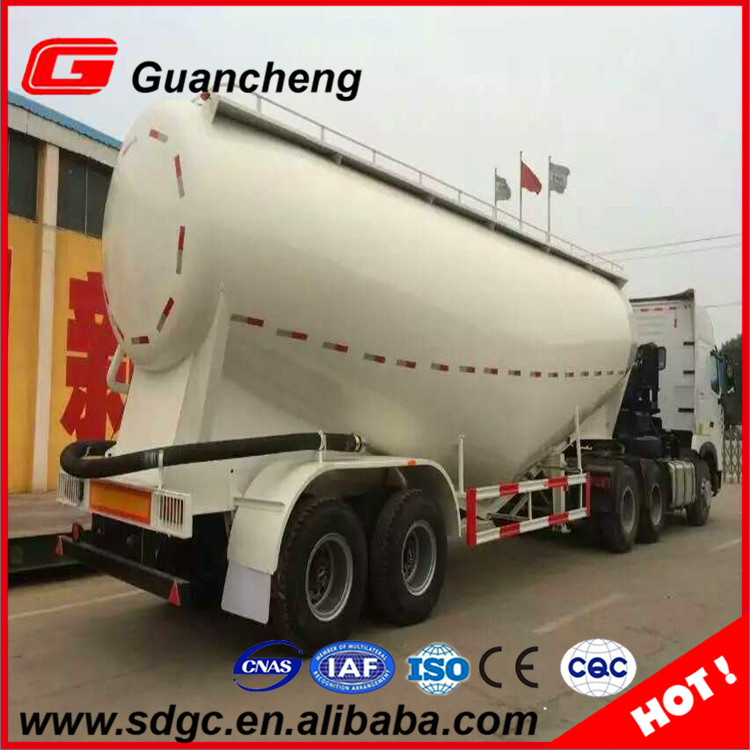v type dry bulk cement transport tank semi trailer with ISO certificate