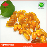 GMP Certificated and High Quality soybean Lecithin Softgel 1000mg