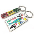 New Design Portugal & Jamaica souvenir keyring chain custom made keyring charm