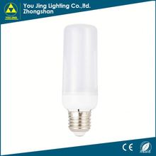 Zhongshan Top 10 cheap priceplastic dimmable led warm white e27 led corn light