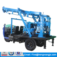 200m multifunctional three wheel vehicle mounted hydraulic spindle drilling rig for sale
