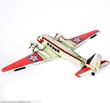 Top Quality Old Colored Painting Airplane Toy For Display Iron Diecast Aircraft Model