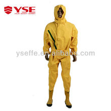 hot selling Yellow color rubber protective chemical inflatable pvc suit