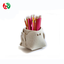 Wholealer Cheap Custom Logo Desk Decoration Brush Pot Recycle Handmade Felt Pen Holder