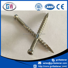 Discount price Stainless Double Thread Cylinder head hardwood screw