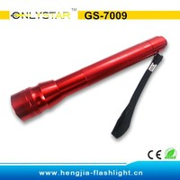 GS-7009 Aluminum krypton short pen shaped light yellow light flashlight