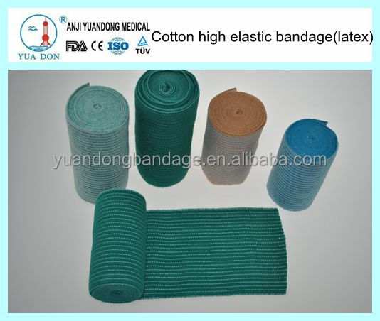 Colored Elastic Support Bandage Wraps with Metal Clasps